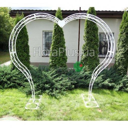 Арка садовая сердце