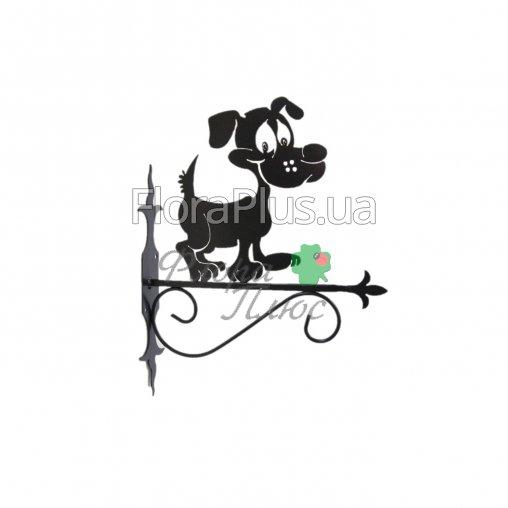 Крючок для подвесного цветка Собака 3