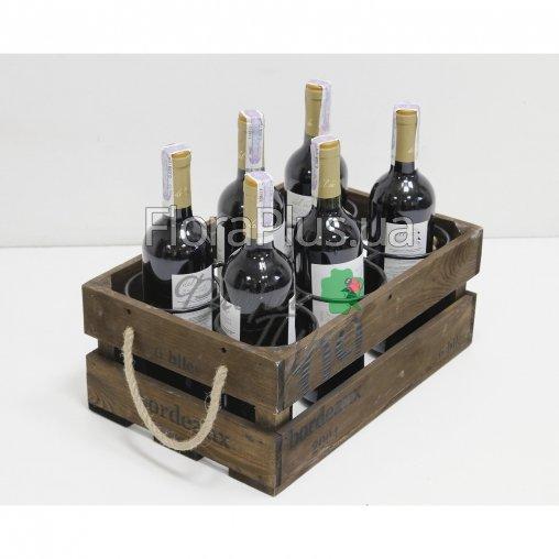 Подставка для вина ящик на 6 бутылок