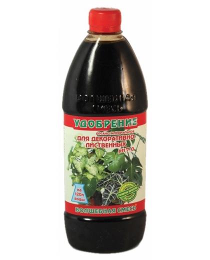 Волшебная Смесь для декоративно-лиственных растений органо-минеральное удобрение 500мл