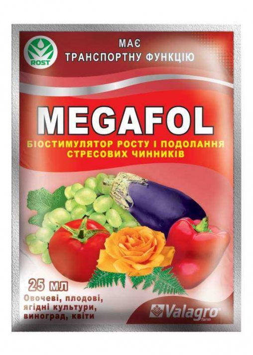 Биостимулятор роста megafol (мегафол) 25мл valagro (валагро)