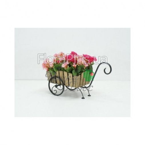 Подставка для цветов Тачка Лебедь Кантри