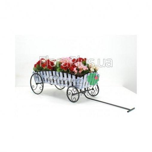 Подставка для цветов Телега Кантри