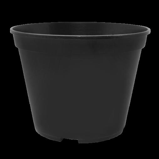 Вазон для рассады круглый чёрный